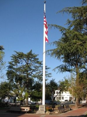 Mills Square Flag Pole image. Click for full size.