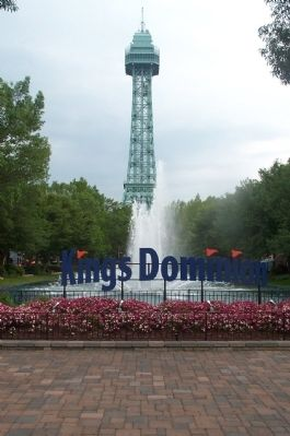 The Volcano is located in Kings Dominion Photo, Click for full size
