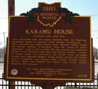 Karamu House Marker image. Click for full size.