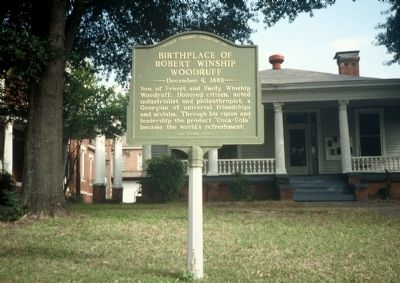 Birthplace of Robert Winship Woodruff Marker image. Click for full size.