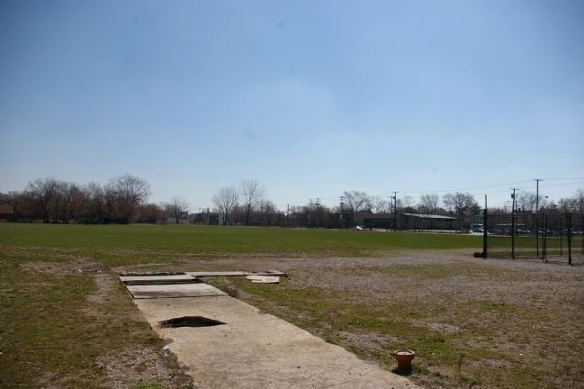 View across the location of home plate Photo, Click for full size