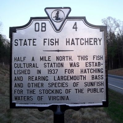 State Fish Hatchery Marker Photo, Click for full size