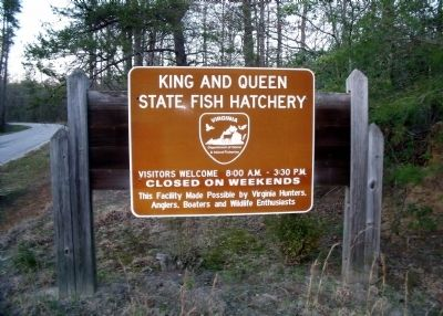 State Fish Hatchery Entrance Photo, Click for full size