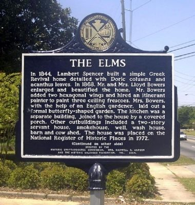 The Elms Marker image. Click for full size.