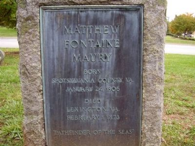 Matthew Fontaine Maury Marker image. Click for full size.