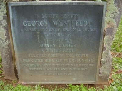 George Westfeldt Marker image. Click for full size.