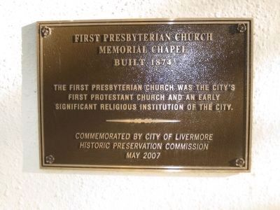 First Presbyterian Church Memorial Chapel Marker Photo, Click for full size