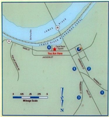 Closeup of Map Shown on Marker Photo, Click for full size