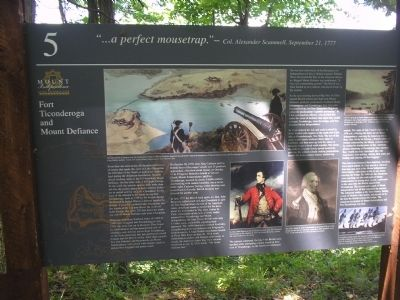 Fort Ticonderoga and Mount Defiance Marker Photo, Click for full size