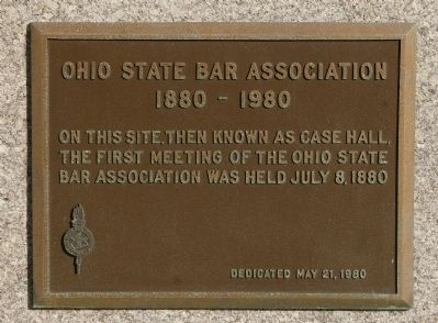 Ohio State Bar Association Marker image. Click for full size.