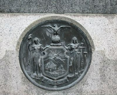 State Seal on Front of Monument Photo, Click for full size