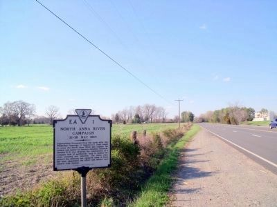 North Anna River Campaign Marker on US Rt 1 (facing north) image. Click for full size.