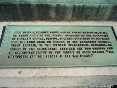 John Wesley Marker Photo, Click for full size