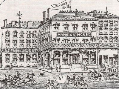 The Mansion House<br>Originally Located at the Site of the Poinsett Hotel image. Click for full size.