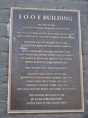I O O F Building Marker image. Click for full size.
