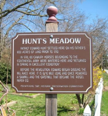 Hunts Meadow Marker Photo, Click for full size