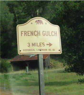 French Gulch Directional Sign Located on Highway 299 image. Click for full size.