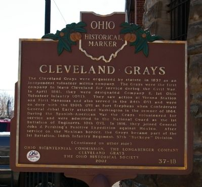 Cleveland Grays Marker Photo, Click for full size