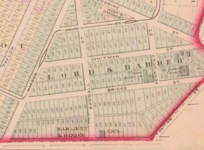 Barber and Lord's Subdivision in 1874 image. Click for full size.