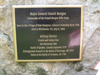 Major General Daniel Morgan Marker image. Click for full size.
