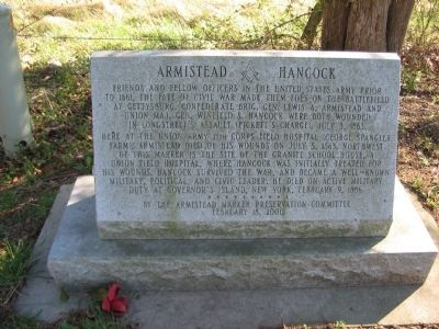 Armistead and Hancock Marker image. Click for full size.