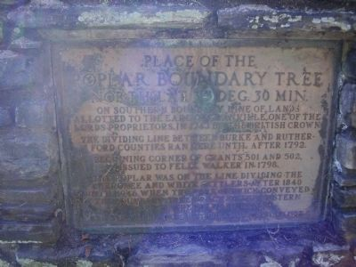 Place of the Poplar Boundary Tree Marker image. Click for full size.