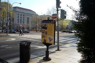 Freedom Plaza - as seen from marker, across the intersecton of E & 13th image. Click for full size.