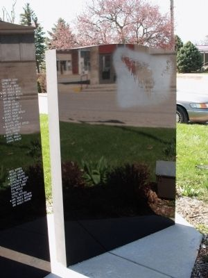 Panel - Six::  Blank War Memorial Marker Photo, Click for full size