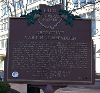 Detective Martin J. McFadden Marker Photo, Click for full size
