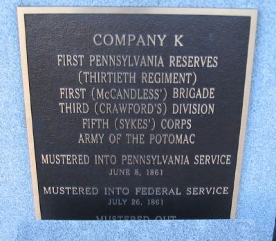 Main Center Plaque image. Click for full size.