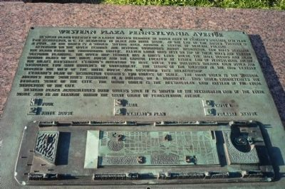 Western Plaza Pennsylvania Avenue Marker Photo, Click for full size