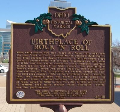 Birthplace of Rock 'n' Roll Marker image. Click for full size.