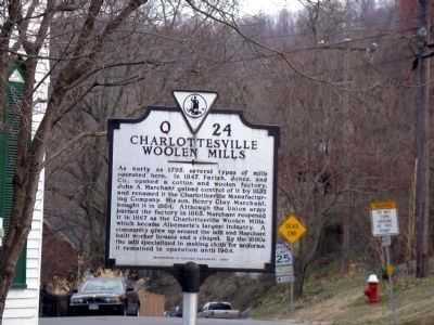 Charlottesville Woolen Mills Marker image. Click for full size.