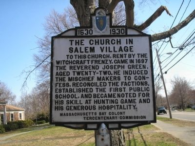 The Church in Salem Village Marker image. Click for full size.