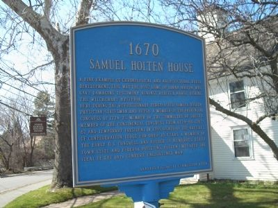 Samuel Holten House Marker image. Click for full size.
