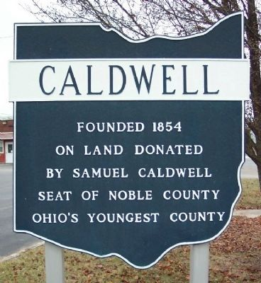 Caldwell Corporate Limit Marker image. Click for full size.