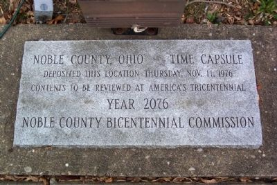 Noble County, Ohio - Time Capsule image. Click for full size.
