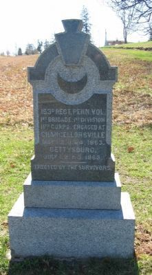 153rd Regiment Pennsylvania Volunteers Monument image. Click for full size.