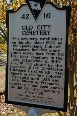 Old City Cemetery Marker Photo, Click for full size