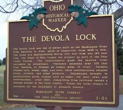 The Devola Lock Marker Photo, Click for full size