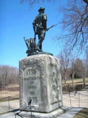 Marker in Minute Man Nat'l Hist Park Photo, Click for full size