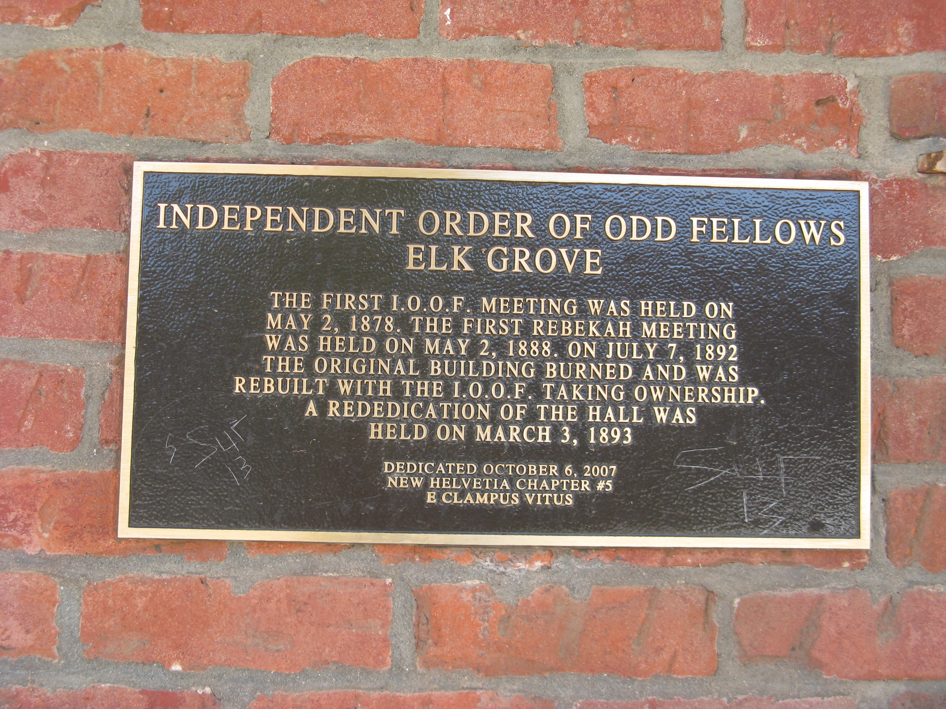 Independent Order of Odd Fellows Marker
