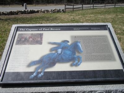 The Capture of Paul Revere Marker image. Click for full size.
