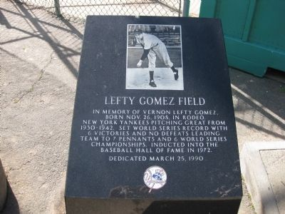 Lefty Gomez Field Marker image. Click for full size.