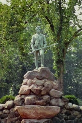 Lexington Minuteman, Similar view in 1983 image. Click for full size.
