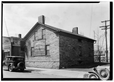 East elevation of the house, prior to the move to Lakewood Park Photo, Click for full size