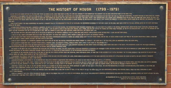 The History of Hough (1799-1979) Marker image. Click for full size.