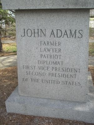 Front of John Adams Monument image. Click for full size.
