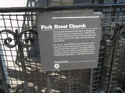 Park Street Church Marker Photo, Click for full size