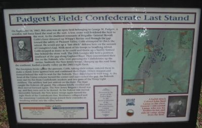 Padgett's Field: Confederate Last Stand Marker image. Click for full size.